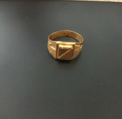 Rare Gorgeous Egyptian Stamped 21k Solid Yellow Gold Unisex Ring!!WOW