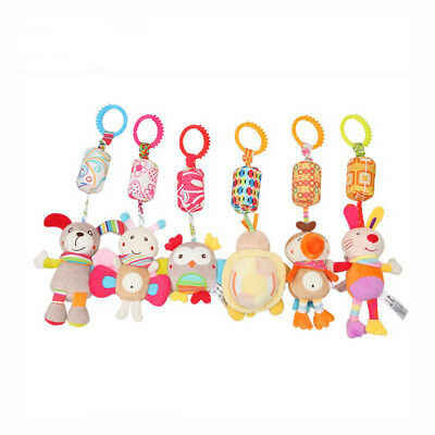 Plush Mobiles Toys Cute Cartoon Animals Stroller Toy Baby Hanging Ornaments Gift