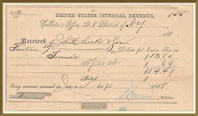 J. C. Locke & Son: Trunks, Bags & Valises - Internal Revenue Trunk Tax - 1868