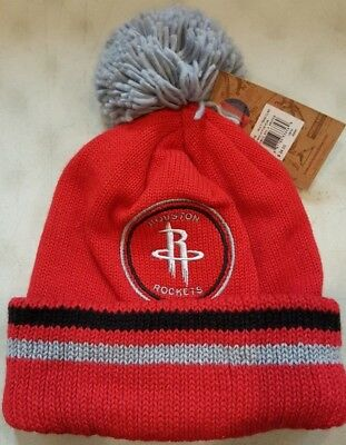 bf6a23e5e97 Houston Rockets NBA Mitchell and Ness Pom Vintage Cuffed Knit Hat Beanie Cap