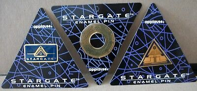 STARGATE ENAMEL PINS (3) styles - substancial material weight  # 45880   1994