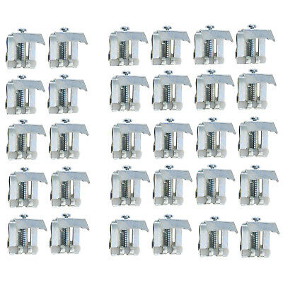 10/20pcs Stainless Steel Kitchen Sink Fixing Pack Kit Adjustable Clips Clamps