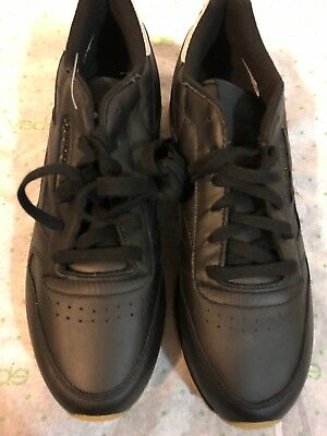 REEBOK CLASSIC LEATHER Met Diamond Black Gum BD4422 Women s SZ 9.5 ... ca29be1456