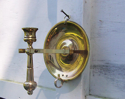 BALDWIN Solid Brass Nautical Candlestick w/ Gimbal