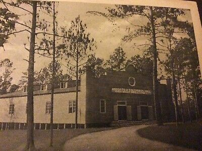 WW1 postcard, Knights of Columbus Hall, Camp Jackson SC from son, 2 cent stamp