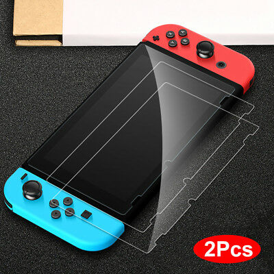 2pcs Tempered Glass Screen Protector Film Premium Protection for Nintendo Switch