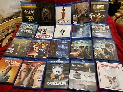 LOT OF 20 BLU-RAY MOVIES - Horror/Action/Comedy GAME OF THRONES*CARRIE*MISERY
