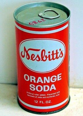 Nesbitt's Orange Soda; Seven-Up Bottling Company of Oshkosh; Steel Soda Pop Can