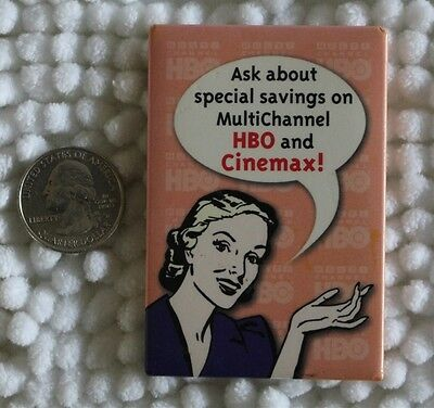 Ask About Special Savings on Multichannel HBO Cinemax Pin Pinback Button #24010