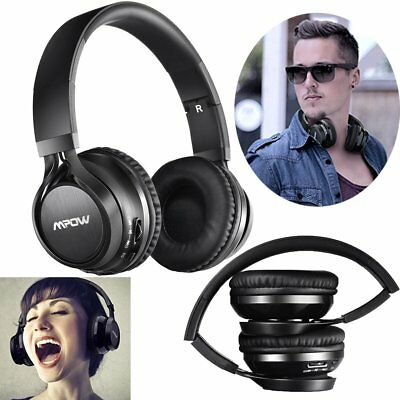 UPDATED Mpow Wireless Bluetooth Foldable Stereo Headset Headphone Noise Cancelli