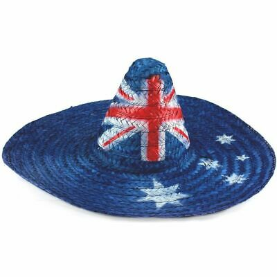 Aussie Australian Flag Mexican Sombrero Hat Australia Day Cricket Tennis Cmon
