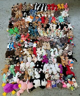 54a55e3dcc6 LOT OF TY Beanie Babies Rare Retired