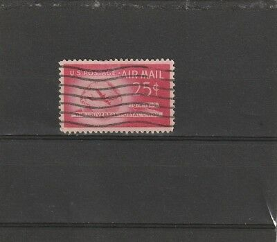 USA 1949 Airmail 25 Cent Red UPU Single Used