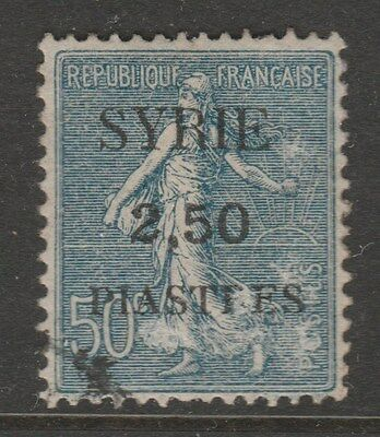 SYRIA 1922 SG96d 2.50p on 50c VFU #