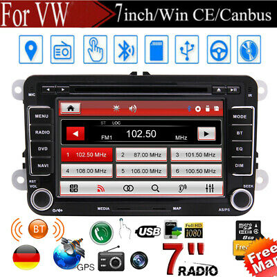 Für VW Golf 5 6 Passat Jetta Skoda Touran Polo Autoradio GPS Navi DVD USB MP3 CD