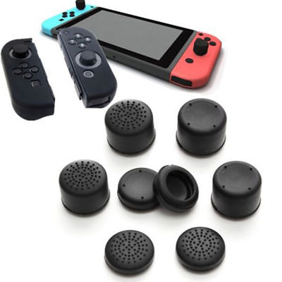 8pcs/Set Black Silicone Thumb Stick Grip Cover Caps For Nintendo Switch Joy-Con