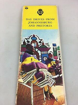 Tourist Brochure - Map - Day Drives From Johannesburg And Pretoria - 1977