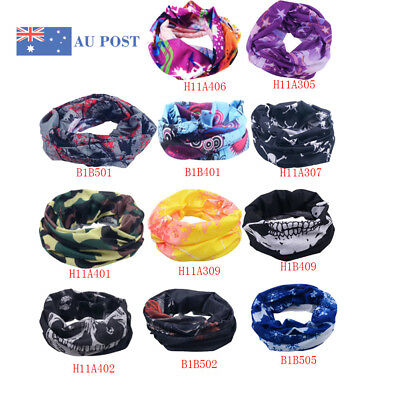 Cool Head Face Mask Multi Wear Cotton Neck Tube Bandana Biker Motorcycle Scarf