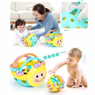 Baby Hand Bell Shaker Rattles Sound Grasp Teether Ball Finger Early Exercise Toy