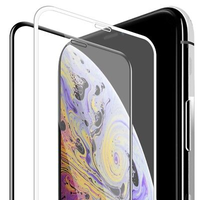 3D Full Frame Curved Edge Easy-Install Screen Glass For iPhone XS MAX XR X 8 7 6