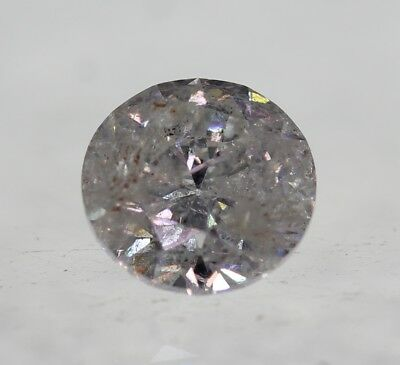 Certified 0.52 Carat G Color Round Brilliant Enhanced Natural Diamond 5.02mm