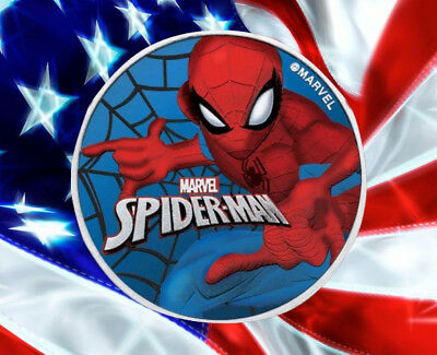 2017 1 Oz Tuvalu SPIDERMAN GLOW IN THE DARK Coin WITH BOX N COA.