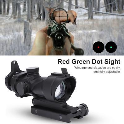 1X32 HD30F Red Green Dot Sight Hunting Scope Collimator Rifle Shooting Mount SP