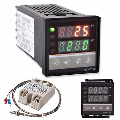 Digital Lcd Pid Rex-C100 Temperature Controller Max.40A Ssr K Thermocouple Firm