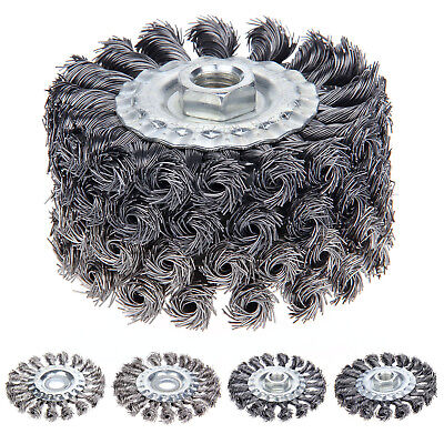 4pcs Steel Alloy Twist Knot Wire Wheel Cup Brush Set For 115mm Angle Grinder