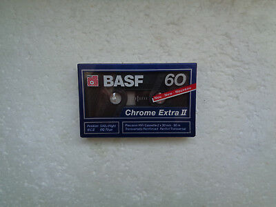 Vintage Audio Cassette BASF Chrome Extra 60 * Rare From Germany 1989 *