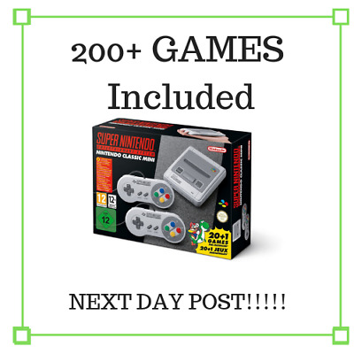 NEW Genuine Super Nintendo SNES classic mini 200 Tested Hand Picked games PAL