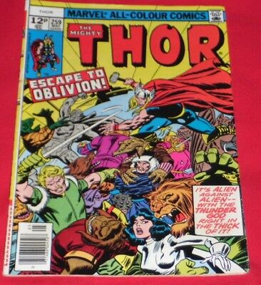 The Mighty Thor 259#_May77Escape Into_Oblivion Rare And Great Copy ! £1.99P