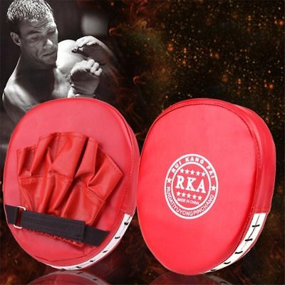 2X Boxing Mitt Focus Punch Strike Pad Training Kick Target Glove MMA Karate Muay