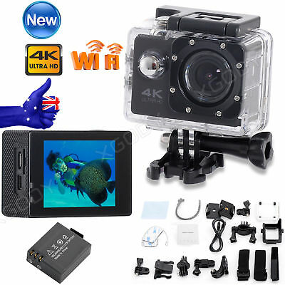 Mini Ultra HD 4K 2'' Sports Camera Waterpoof Helmet Action Cam Camcorder DV WiFi