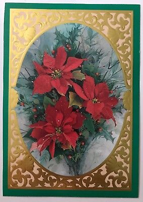 Christmas/New Years  / Happy Holidays Embossed Postcard