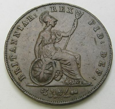 GREAT BRITAIN 1/2 Penny 1826 - Copper - George IV. - VF - 3065