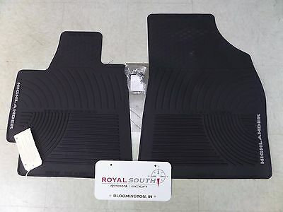 Toyota Highlander 08-11 Front Factory All Weather Rubber Floor Mats Genuine OEM