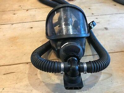 MSA Auer 3S Full-Facepiece Respirator with pipe work
