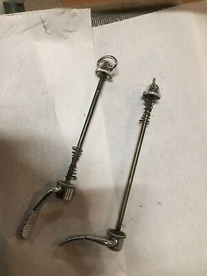 Vintage 1980s Campagnolo Super Record quick release wheel hub skewers*