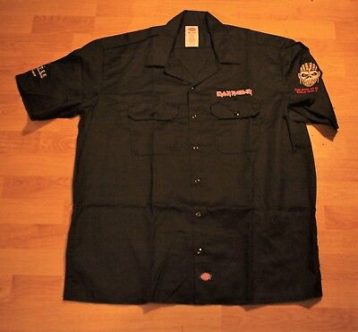 Iron Maiden. Book of Souls embroidered Dickies crew shirt!