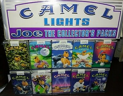 1990's Camel Joe Collectable Carton Set of Cigarettes 10 packs, Unopened!! RARE
