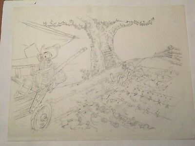 WINNIE the POOH - Original Hand Drawn Art (Drawing) - Walt Disney, 1970s (#2)