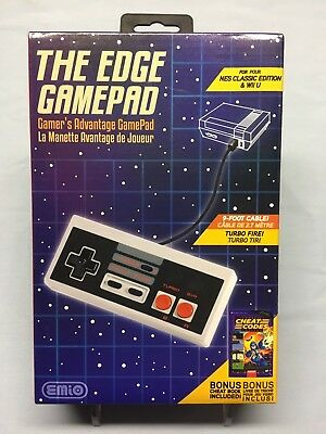 The EDGE Gamepad for NES Classic & Wii U 9FT Cable *Factory Sealed Brand NEW*