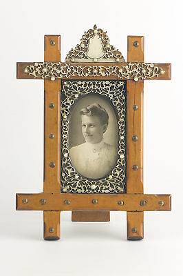 Antique Wood & Filigree Picture Frame ~ RARE~ Beautiful Detail