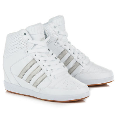 Scarpe Donna Adidas Super Wedge AW3968 Bianco Sneakers Sportiva Zeppa 37.5  Nuovo 413c31d39d2