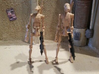 STAR WARS Battle Droid Army Builder Lot Of 2 HASBRO Loose Complete EP I