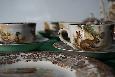 """""""PALISSY ENGLAND""""THE ROYAL WORCESTER GROUP, Kaffeeservice KOMPLETT"""