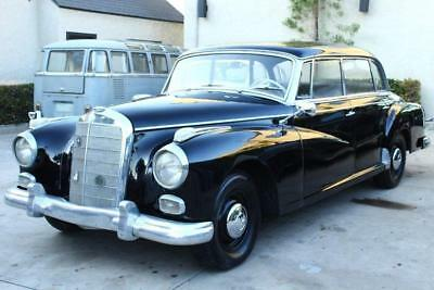 1959 Mercedes-Benz 300-Series Adenauer 1959 Mercedes 300 D Adenauer 80782 Miles Black 4 Door Sedan 6 Cyl Automatic