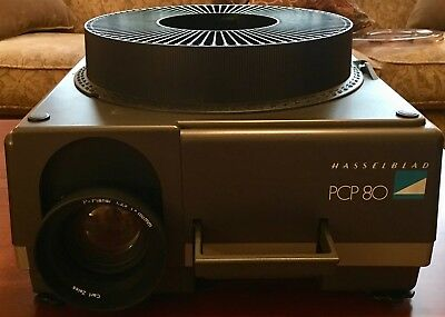 Hasselblad PCP 80 Projector w/ 150mm Lens & Condenser and Three Slide Trays
