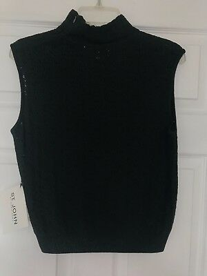 St John by Marie Gray sleeveless knit top (Forest Green, size M) with tags
